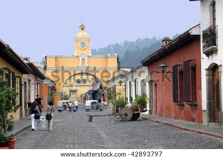 Colonial Antigua - stock photo