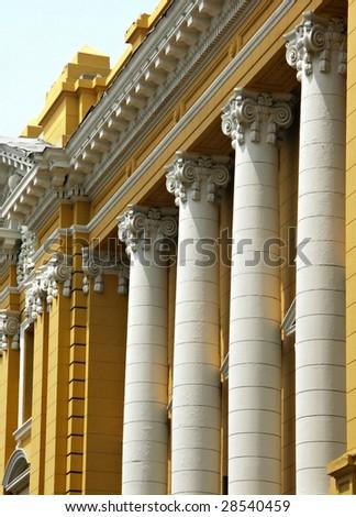 Colonial architecture in Lima Peru - stock photo