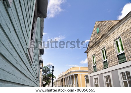 Colonial architecture in Ponce, Puerto Rico - stock photo
