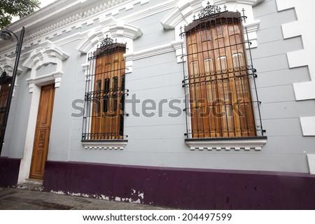 colonial house in caracas, venezuela - stock photo