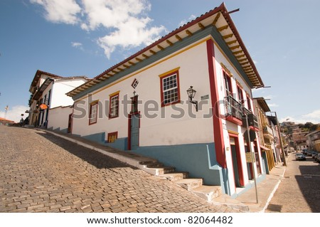 Colonial house in Mariana, Brazil