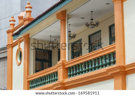 Colonial house in Singapore  - stock photo