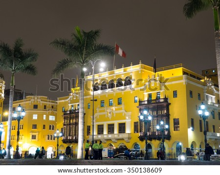 Colonial Lima - stock photo