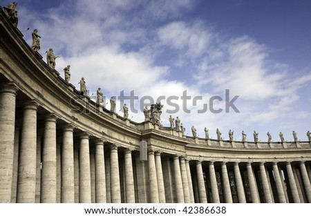 Colonnade at Saint Peter's Square, Rome, Italy