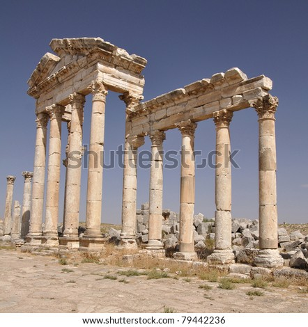 Colonnade in Apamea, Syria