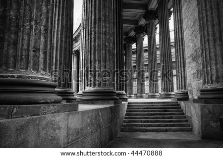 Colonnade, Kazansky cathedral, Russia - stock photo