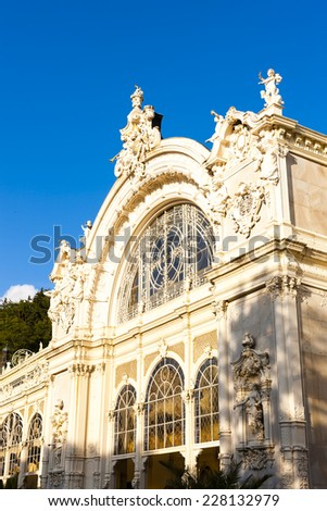 Colonnade, Marianske Lazne (Marienbad), Czech Republic - stock photo
