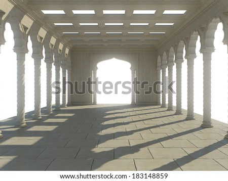 Colonnade of ancient columns