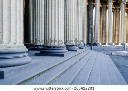 Colonnade of the Kazan Cathedral (soft focus processing)