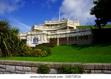 Colonnade, Plymouth, UK - stock photo