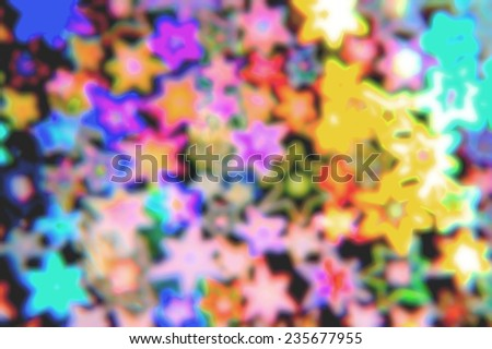 Color abstract blured background with stars - stock photo