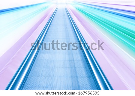 color abstract blurred speed motion view - stock photo