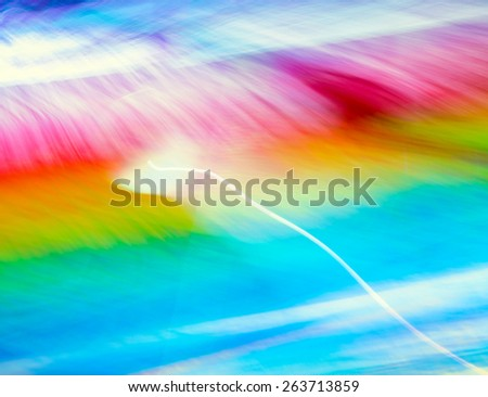Color abstract wave blur lights in motion - stock photo