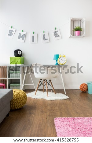 Color and positive energy in spacious kids room