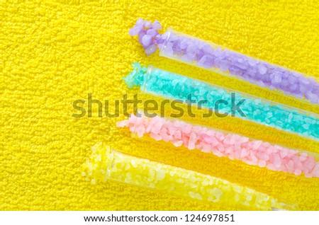color aroma salt - stock photo