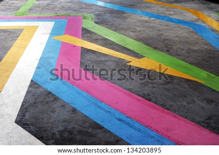 color arrows - stock photo