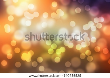 Color background blur- Christmas light - stock photo