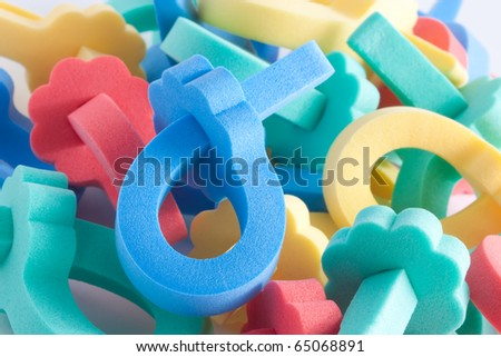 Color background from hair rollers
