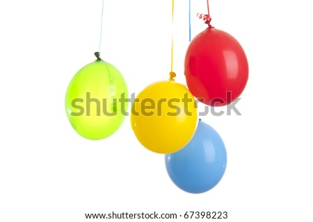 Color ball on the white background