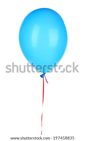 Color balloon, isolated on white - stock photo