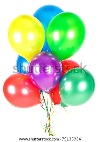 color balloons. party decoration - stock photo