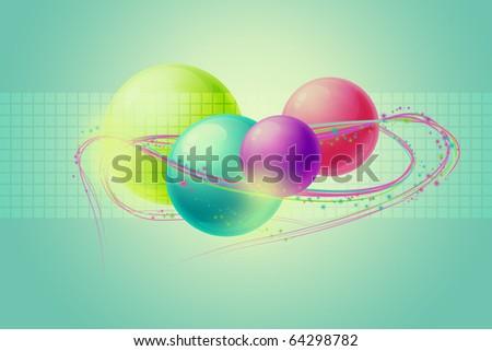 Color balls - stock photo