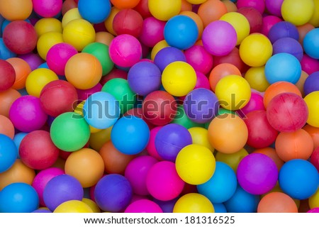 Color balls. bright colors background - stock photo
