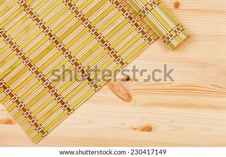 Color bamboo mat - stock photo