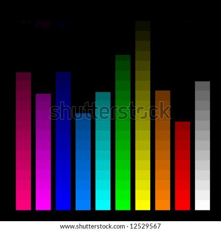 color bars for monitor calibration - stock photo