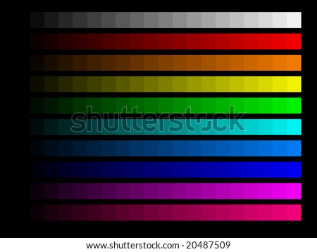 Color bars for screen monitor calibration - stock photo
