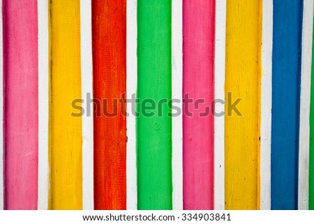 color bars on wooden texture background
