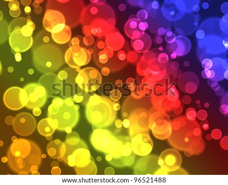 Color bokeh abstract  background - stock photo