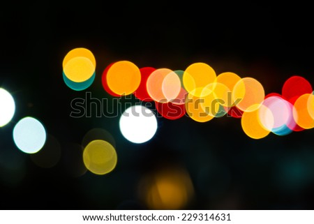 Color Bokeh against a dark background