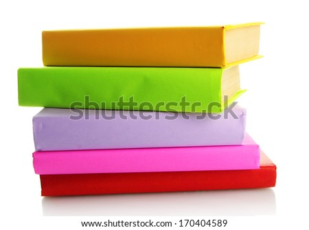 color books isolated on white - stock photo