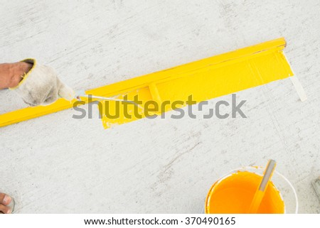color brush on the floor background pattern