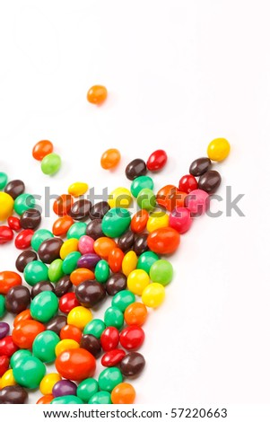 color candies - stock photo
