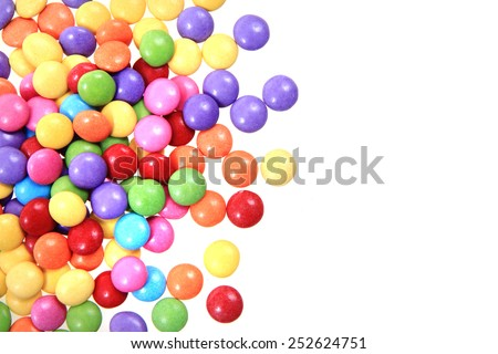 color candy isolated on the white background - stock photo