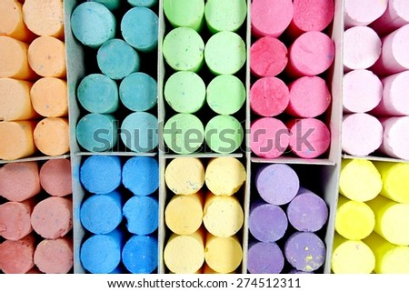 Color chalks. - stock photo