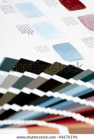 Color chart - stock photo