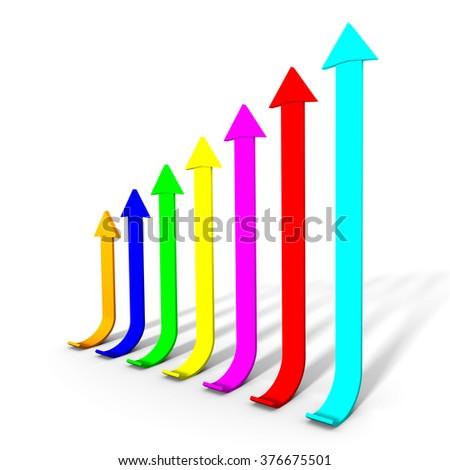 Color chart bars - stock photo