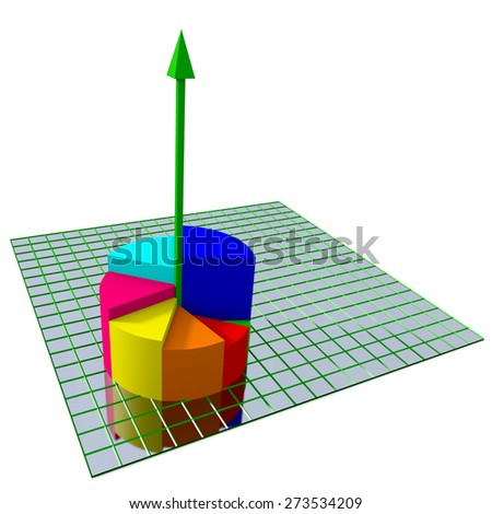 Color Chart. Business theme. - stock photo