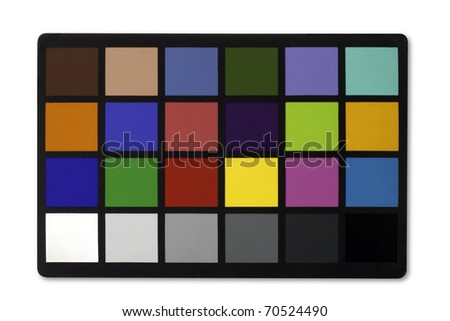 Color Chart isolated on white with clipping path