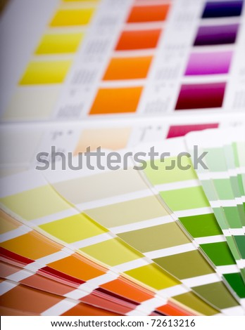 Color chart of acrylic paint - stock photo