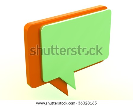 Color chat box on a white background