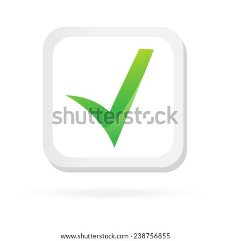 Color checkbox. Icon. Concept Illustration. Isolated on white background