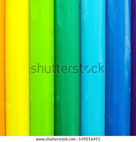 Color children's plasticine with colorful Background.