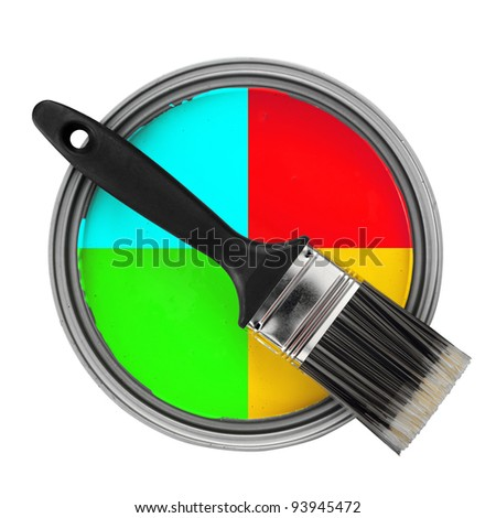 color choosing concept - stock photo