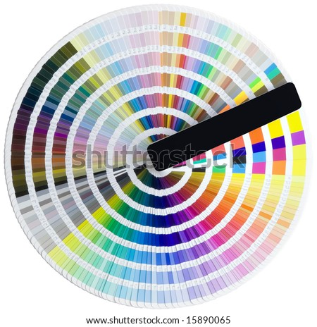 Color circle isolated with clipping path - stock photo