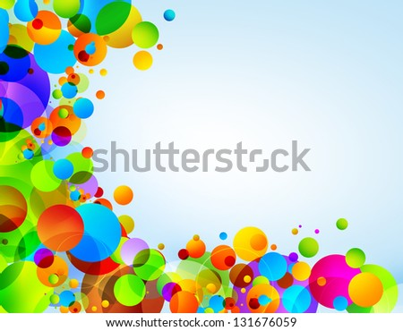 Color Circles Background - stock photo