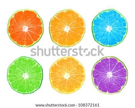 Color citrus slice